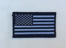 US United States American Flag patch Subdued Black And Gray Iron On