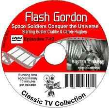 Flash Gordon Buster Crabbe 12 Episodes 2DVDs Space Soldiers Conquer the Universe