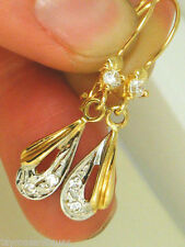 Screw Back (pierced) Ruby Yellow Gold Fine Earrings