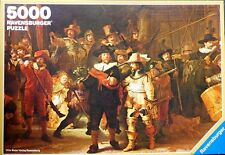"Rare RAVENSBURGER ""Rembrandt The Nightwatch"" 5000 Piece Puzzle *1977* DIFFICULT"