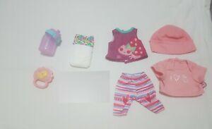 Hasbro Wets N Wiggles 2006 Girl Accessories bottle shirt rattle hat diaper pants