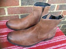 JONES BOOTMAKERS SOFT LEATHER ZIP ANKLE BOOTS MENS 45
