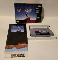 Final Fantasy: Mystic Quest Super Nintendo SNES COMPLETE IN BOX RPG VIDEO GAME