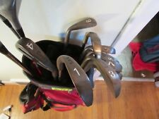(HS124) MRHt golf clubs 9 BECU cougar irons 3 woods putter bag $80.00 free ship