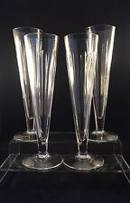 4 Waterford Jasper Conran SHINE Cut Champagne Flutes Signed 1st Quality 8 3/4""