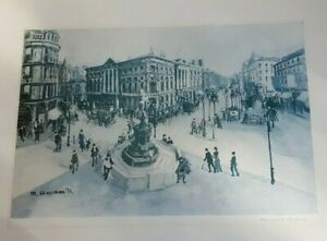 A Signed Margaret Chapman Print of Piccadilly Circus, London, printed 1972.