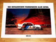 BMW M3 E30 POSTER 9 - ERFOLGREICHSTER TOURENWAGEN - RAR / ORIGINAL VINTAGE MINT