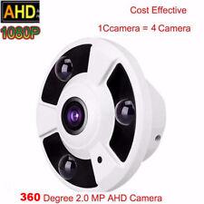 HD 1080P 2.0MP AHD camera 360 degree Panoramic fisheye 3PCS IR Night Vision Leds