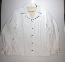 Original Dolce & Gabbana white leather mens jacket size 52