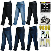 Men Motorbike Denim Jeans Pants With Protective Lining And CE Approved Armour
