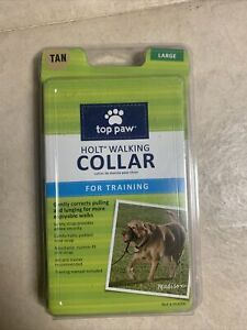 Top Paw Holt Walking Collar For Training Large Dogs - Tan - Manual Included