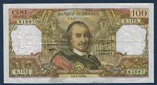 FRANCE - 100 FRANCS CORNEILLE Fay n° 65. 62 du 2-3-1978.G en TTB   S.1175 61097