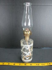 "Eagle Oil Lamp Small 10"" Adjustable Glass & Brass Vintage Decorative Patriotic T"