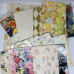 Lot of 16 Different Patterns of Assorted Sheets of Gift Wrap Wrapping Paper