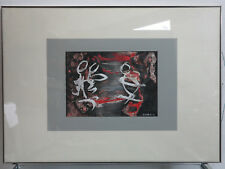 ORIGINAL Edith Cortelli Bild * signiert* gerahmt Mischtechnik abtract painting
