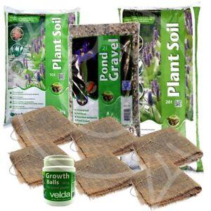 Velda Pond Plant Repotting Kits Lily Soil Gravel Hessian Growth Balls Planting