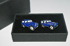 Blue Land Rover Cufflinks 4 x 4 Ideal Novelty Gift Boxed Enamel Wedding Idea