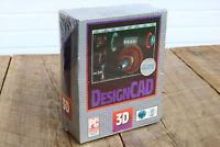 """Vintage DesignCAD v 4.0 3D Modeling Software Sealed Windows 3.5"""" Disk Floppy CAD"""
