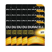 20 x Duracell 377 1.5v Silver Oxide Watch Battery Batteries SR626SW AG4 626 D377