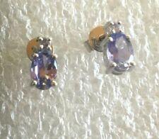 14 ct gold  Tanzanite   stud  earrings  # 2520
