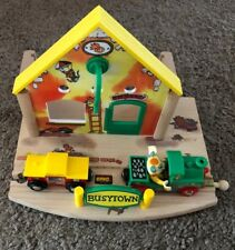 Richard Scarry's Brio Wooden Busytown Train & Station with Huckle Cat! Thomas