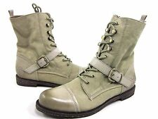 OTBT WOMEN'S HUTCHINSON ANKLE BOOTS,BEIGE,FABRIC LEATHER,US SIZE 7.5,MEDIUM,NEW