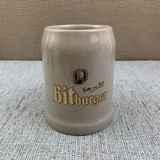 Bitburger German Ceramic Beer Stein Mug 0.5 Litre
