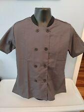 Men's Short Sleeve Lightweight Chef Coat Slate Size Medium