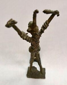 Antik Statuette Afrikanisch aus Bronze Original Ghana Sammlung Ethnisch