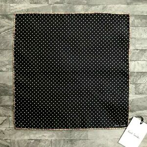 PAUL SMITH POLKA DOT / SIGNATURE STRIPE EDGE POCKET SQUARE HANDKERCHIEF BNWT