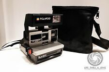 Polaroid SUN 600 Instant Film Camera with strap & case tested and working