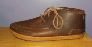 Olukai Pala Brown Leather Chukka Boots! Waterproof Lace-Ups Size 10 US