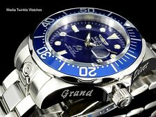 NEW Invicta 47mm Grand Diver AUTOMATIC Blue Dial Silver Tone Bracelet Watch