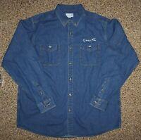 NEW Mens XXLT  2XLT BIG Tall Denim Blue Jean Shirt LS w/ SLEEVE POCKET TRUCKER