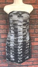 Romeo & Juliet Couture Junior Large Charcoal Gray Strapless Party Dress Cocktail
