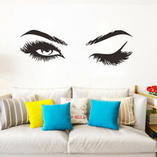 1Set Woman Eye Wall Sticker Art Lash Face Girl Eyelash Decor Beauty Salon Decal