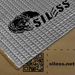 Siless 50mil 52 ft² Sound Deadening mat Sound Deadener Mat Car Sound Dampening