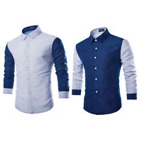 Stylish Slim Fit Casual Shirts Men's Long Sleeve Luxury Formal Dress Shirts Tops