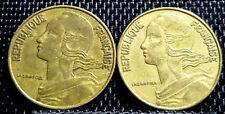 1964 France (Republique Francaise) 20 Centimes coin 2pcs (+FREE 1 coin) #D2199