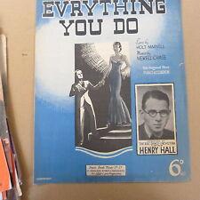 songsheet EV'RYTHING YOUD OHenry Hall 1937