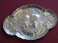 Edwardian stering silver Art Nouveau cherub pin tray. london 1904 W.C  37grams