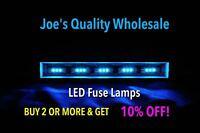 (20)COOL BLUE LED FUSE LAMPS 8V RECEIVER/5500/QR/QRX/SEVEN 7/SIX6/DIAL-Sansui