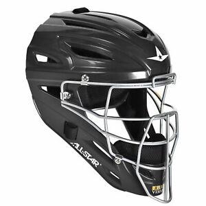 All-Star System Seven Adult Baseball Catcher's Helmet - Black