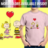 Peanuts Charlie Brown Valentine's Day Sally Hearts Unisex Kids Tee Youth T-Shirt