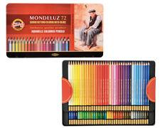 72 Aquarellstifte KOH-I-NOOR Mondeluz im Metalletui wasservermalbare Farbstifte