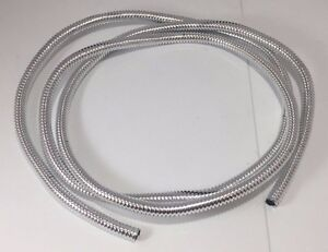 "Wire Loom 1/4"" Diameter 72"" Long Universal (Chrome)"