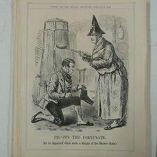 """7x10"""" punch cartoon 1858 PH-PPS THE FORTUNATE knight of the shower bath"""