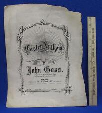 John Goss Composer Antique Sheet Music Score For Easter Anthem