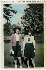 PHOTO ANCIENNE - COLORISÉE FILLE MODE - GIRL FASHION - Vintage Snapshot