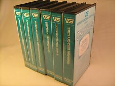 Set of 6 VHS Tapes Video Tutorial Service CALCULUS [Z14a]